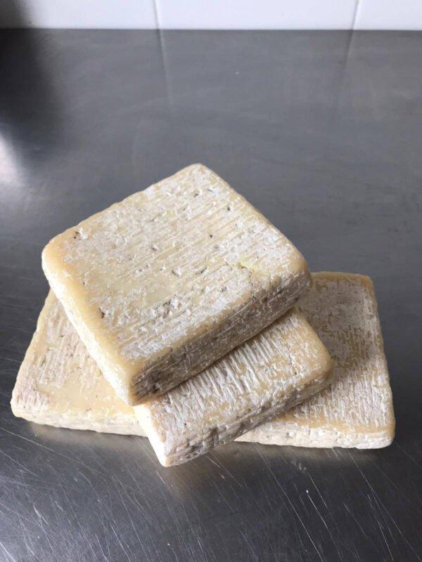 Forme di formaggio robiolina di capra semistagionato