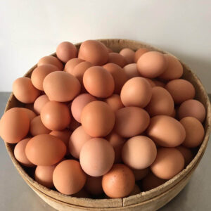 Cesto di uova allevate all'aperto